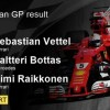 First triumph victory by Sebastian Vettel