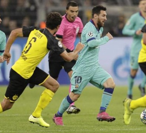 Champions League Results: Messi playing, Barcelona Held Draw by Dortmund