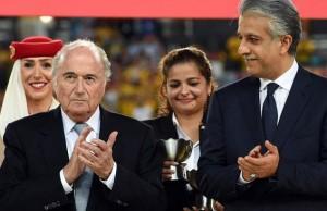 Left: Sepp Blatter, Right: Shaikh Salman Bin Ibrahim Al-Khalifa