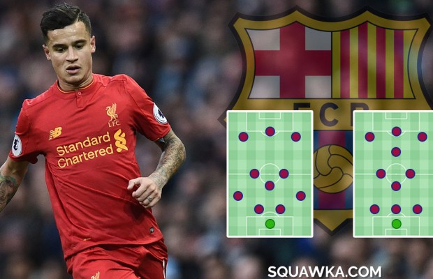 43188316c Where would Philippe Coutinho play at Barcelona