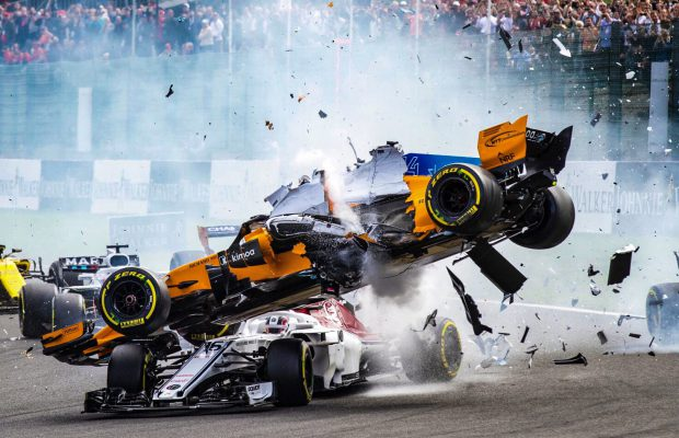 Leclerc and Alonso Halo