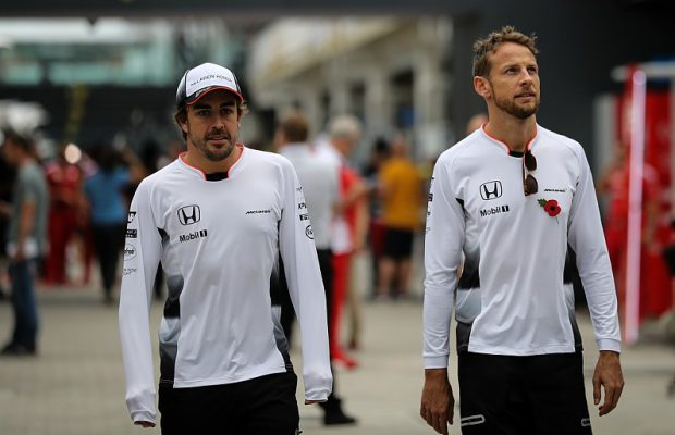 Button and Alonso McLaren