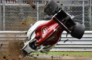 Marcus Ericsson Italy Crash