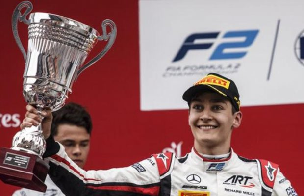 George Russell F2 Champion