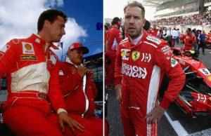 irvine and vettel for Ferrari