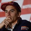 Repsol Honda Team's Spanish rider Marc Marquez attends a press conference in Valencia on November 9, 2017 ahead of the Valencia MotoGP at the Ricardo Tormo Circuit. / AFP PHOTO / PIERRE-PHILIPPE MARCOU